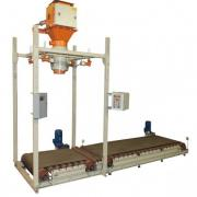 "Dispenser for bulk products in bags ""big-bag"" with a reloader"