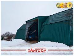 Hangars sealed: not blowing out the snow, bleeding water