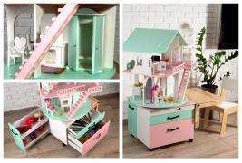 Кукольный домик-модуль 3 в 1 - отличный подарок ребенку
