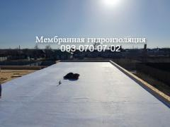 The roof of PVC and TPO membranes in Nikolaev